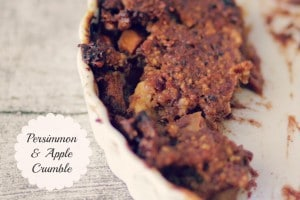 persimmon-apple-crumble