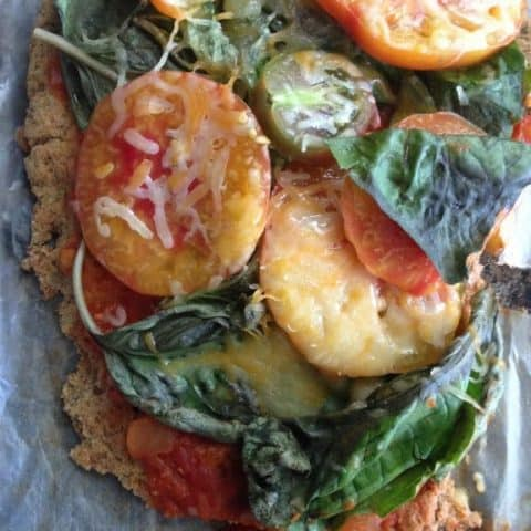 Low Carb Oven Roasted Cauliflower Pizza