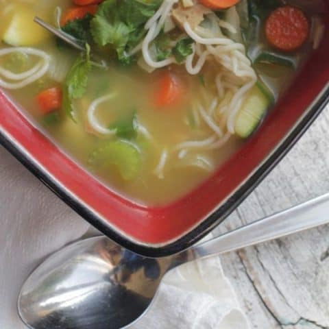 Chickenless chicken Noodle Soup Recipe