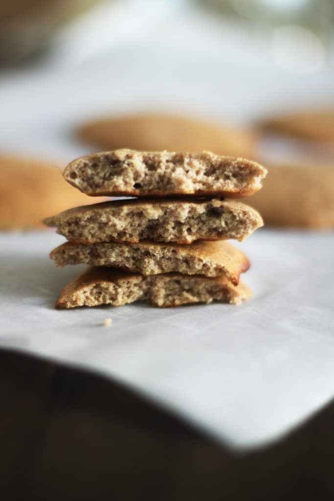 A healthy whey protein cookie recipe that's super simple to make and has no added sugars or gluten! Perfect for healthy ice cream sandwiches!