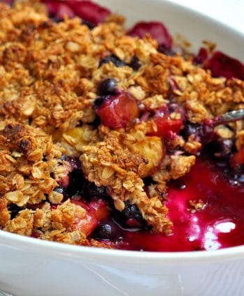 Gluten Free Apple + berry Crisp Recipe