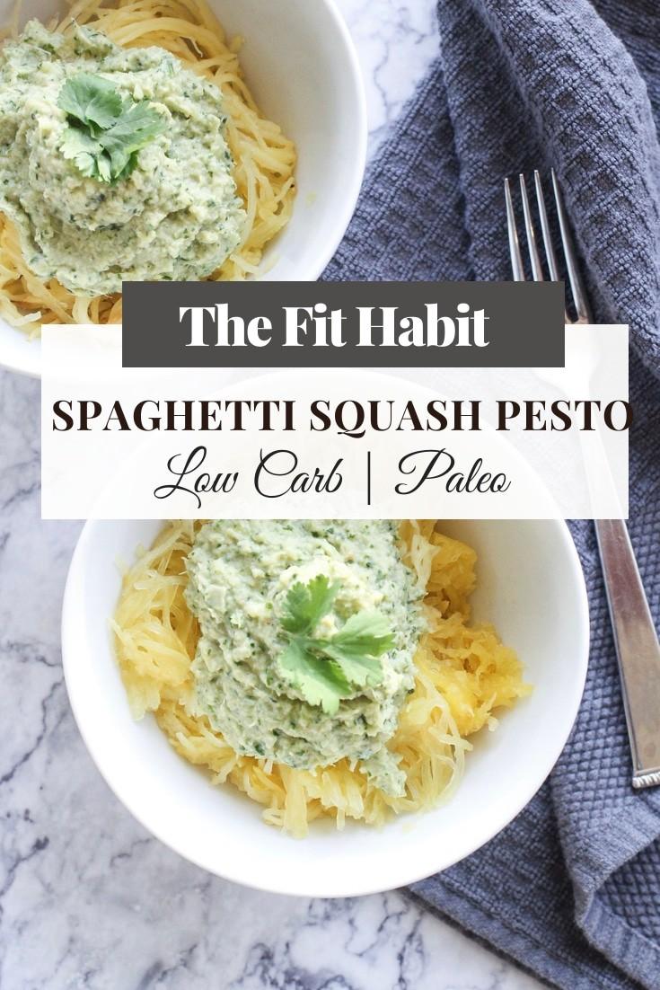 spaghetti squash pesto
