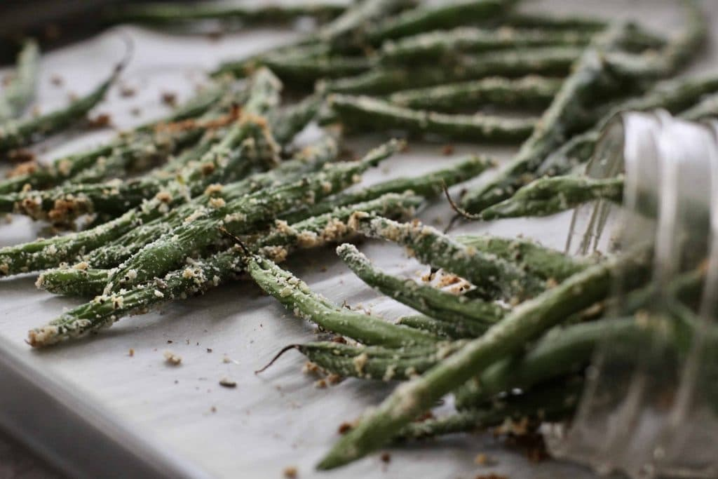 baked green bean fries