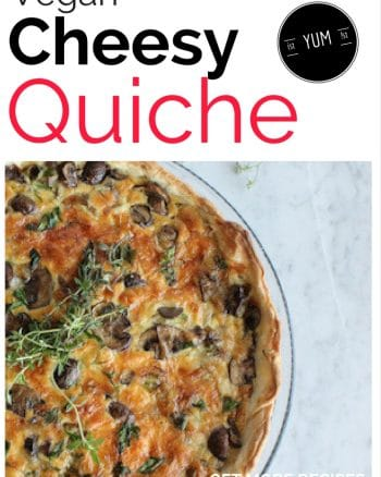 Vegan cheesy quiche recipe