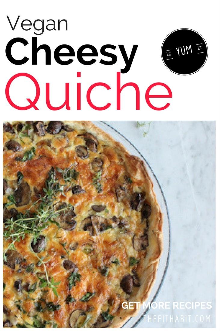 Vegan cheesy quiche recipe