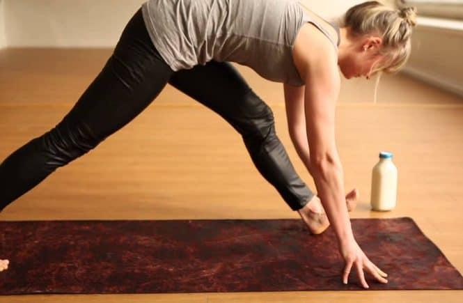yoga straight leg stretch