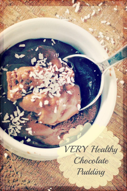 healthy raw Chocolate pudding recipe