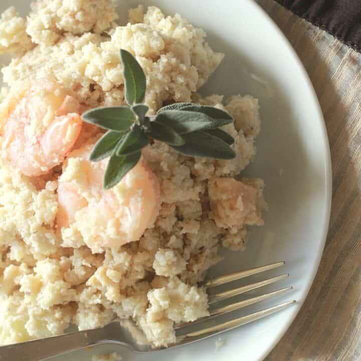 Cauliflower Risotto Recipe - Grain free, Gluten Free & Paleo