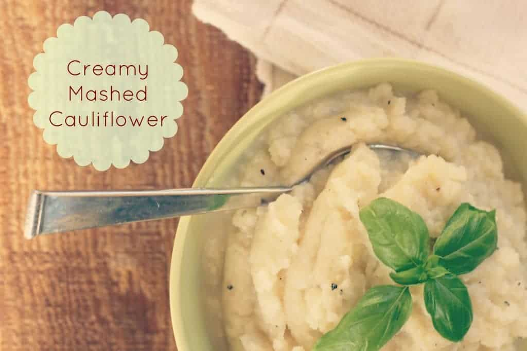 creamy masshed cauliflower