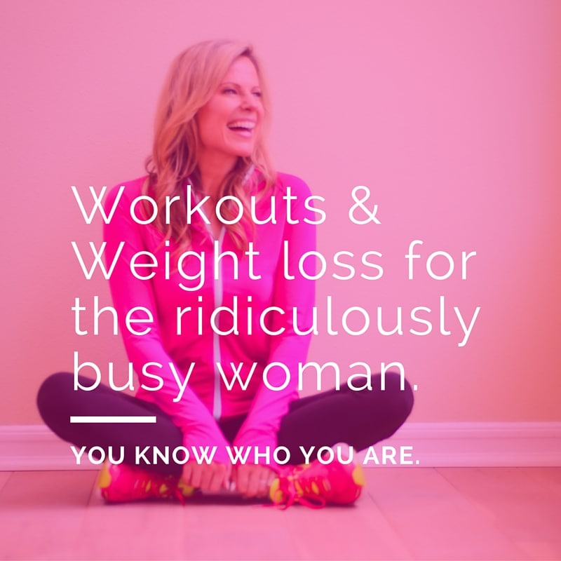 workouts for busy women