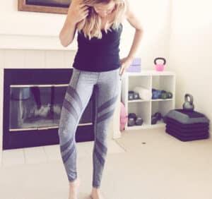 zella gray mesh yoga pants