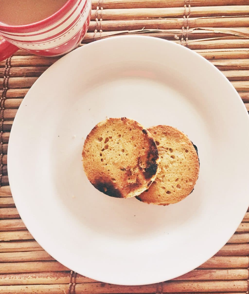 Low carb paleo English muffin