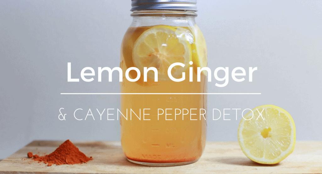 recipe lemon ginger cayenne pepper water