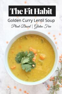 Golden Curry Lentil Soup Recipe | SUPER easy to make. Just throw it in the crock pot and off you go.