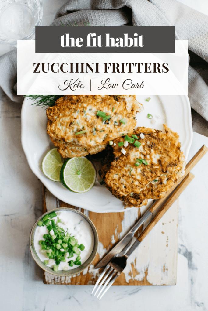 zucchini fritters, low carb, vegan, keto