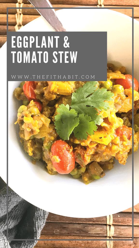 Keto Eggplant tomato stew