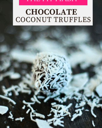 Coconut chocolate truffle recipe.
