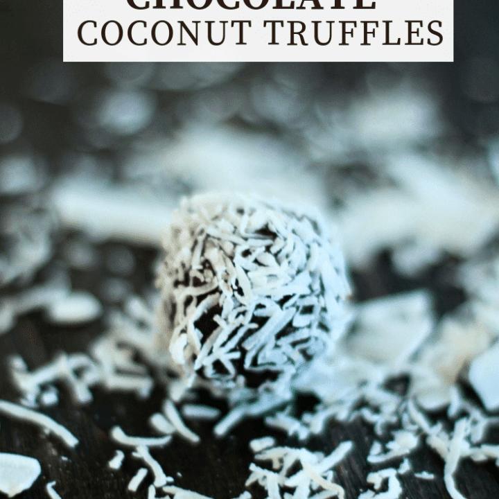 No-bake Chocolate Coconut Truffles