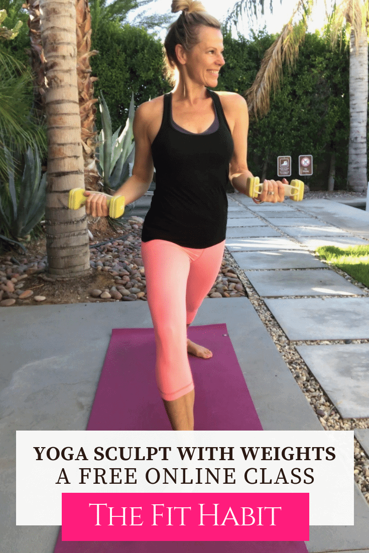 yoga sculpt with weights