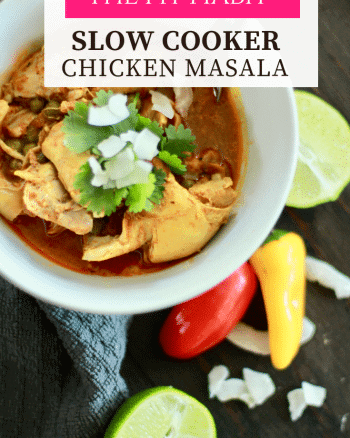 slow cooker chicken masala recipe - #paleo #lowcarb #keto #NSNG