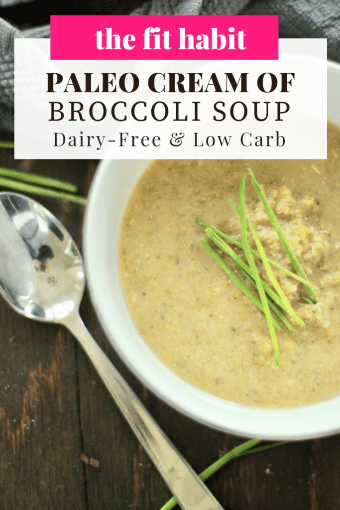 Keto cream of broccoli soup