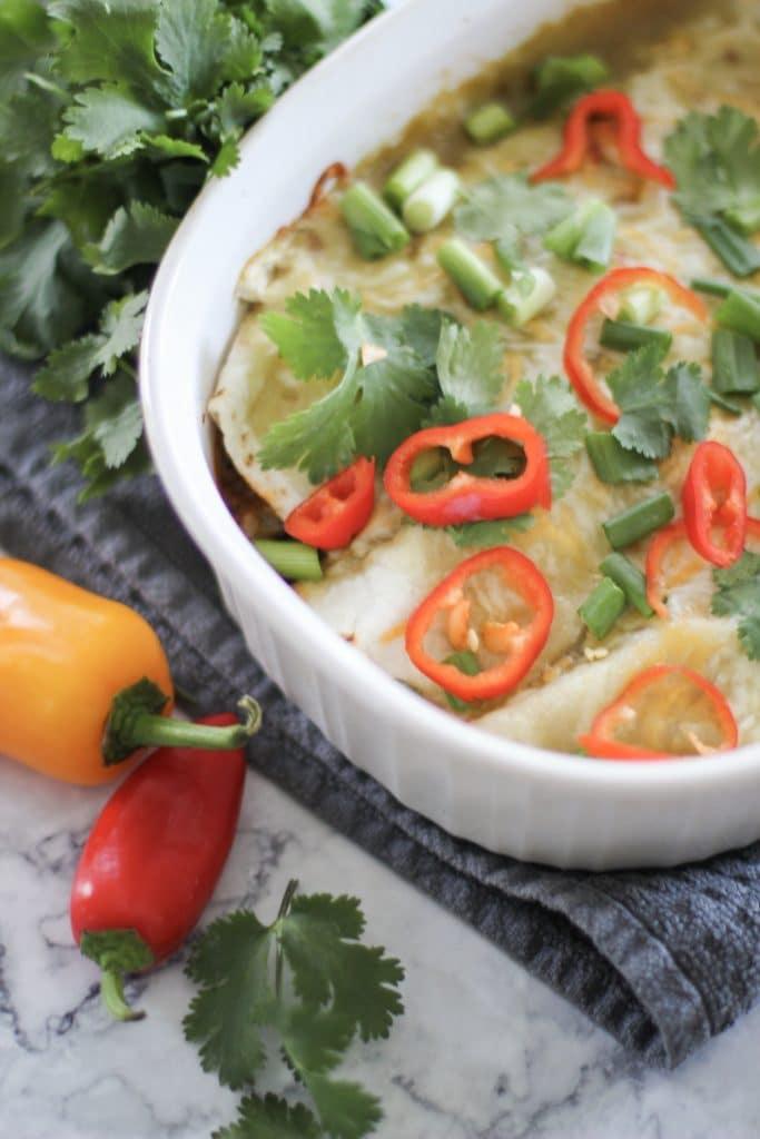 vegan low carb enchiladas that are so simple to make!