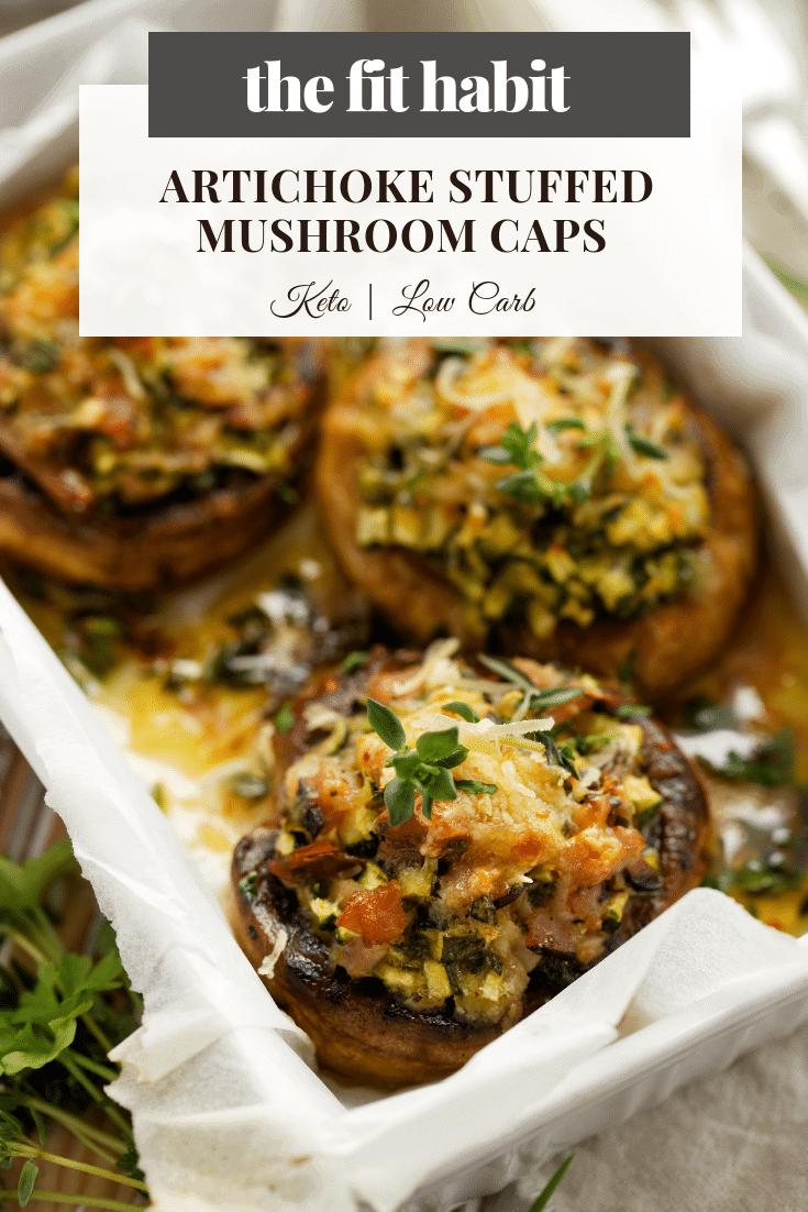 low carb stuffed mushrooms - keto and gluten free