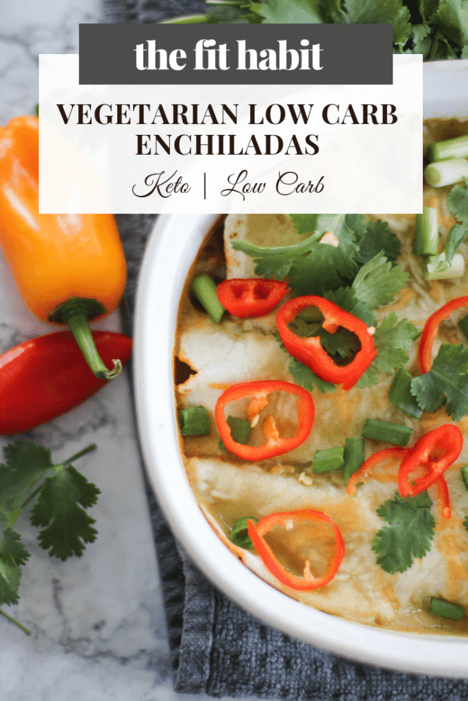 plant-based, vegetarian low carb enchiladas