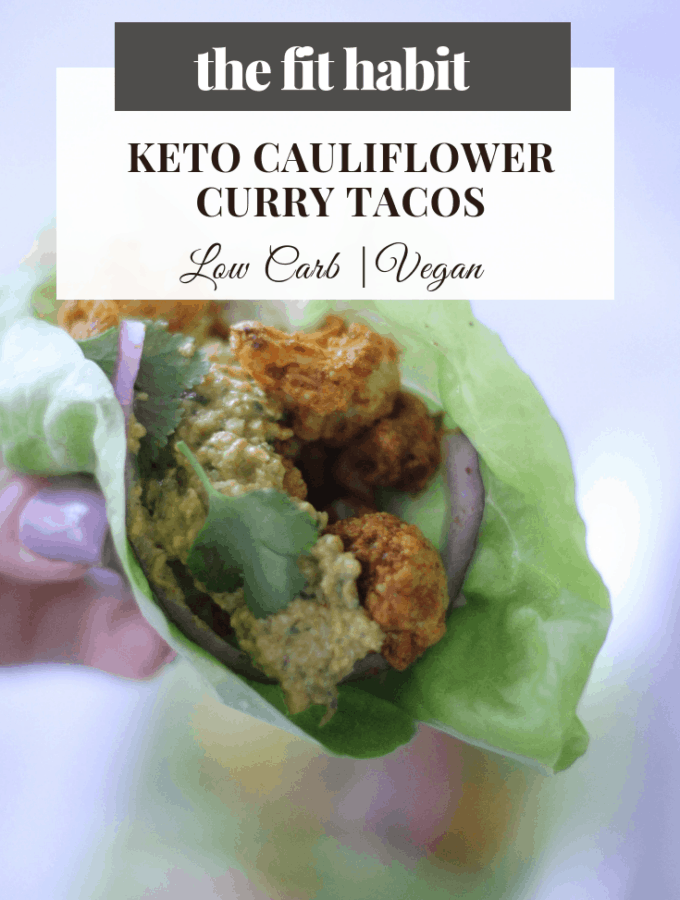 keto tacos with curried cauliflower