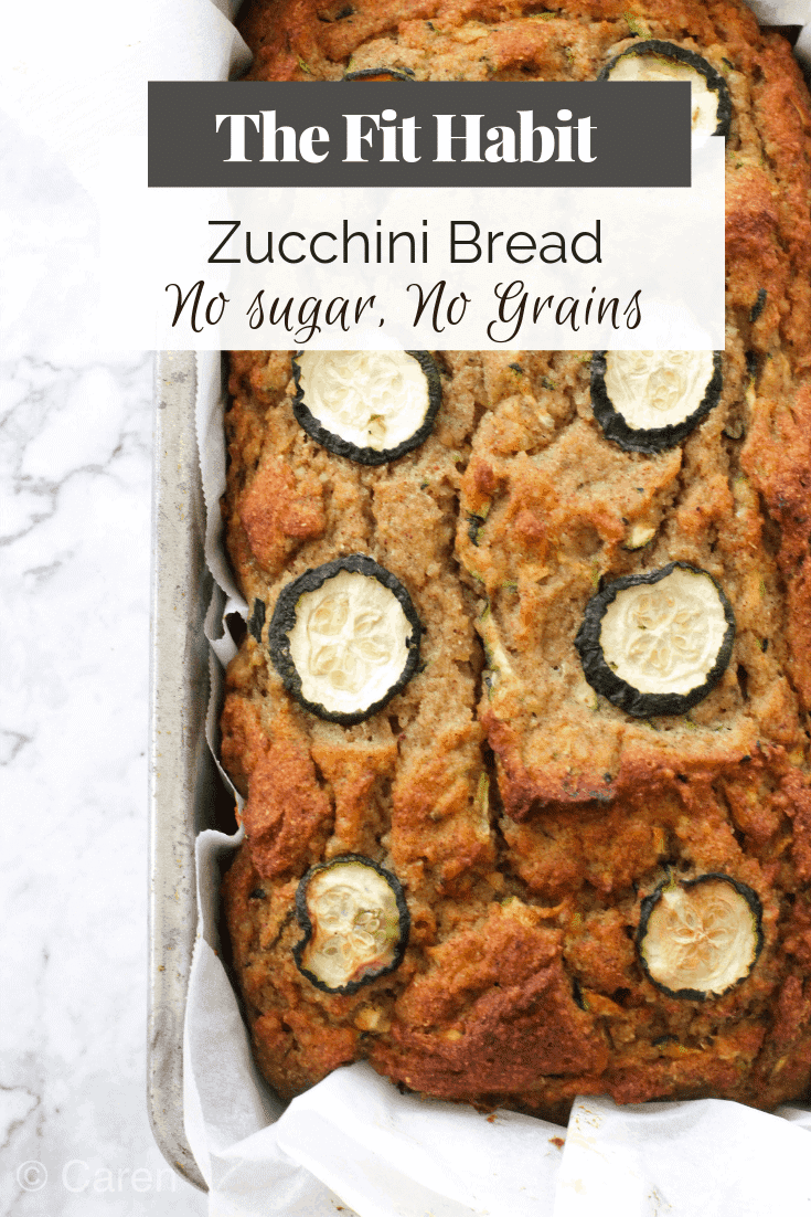 loaf of zucchini bread