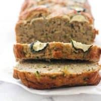 Healthy Zucchini Bread (Low Carb + Sugar Free)