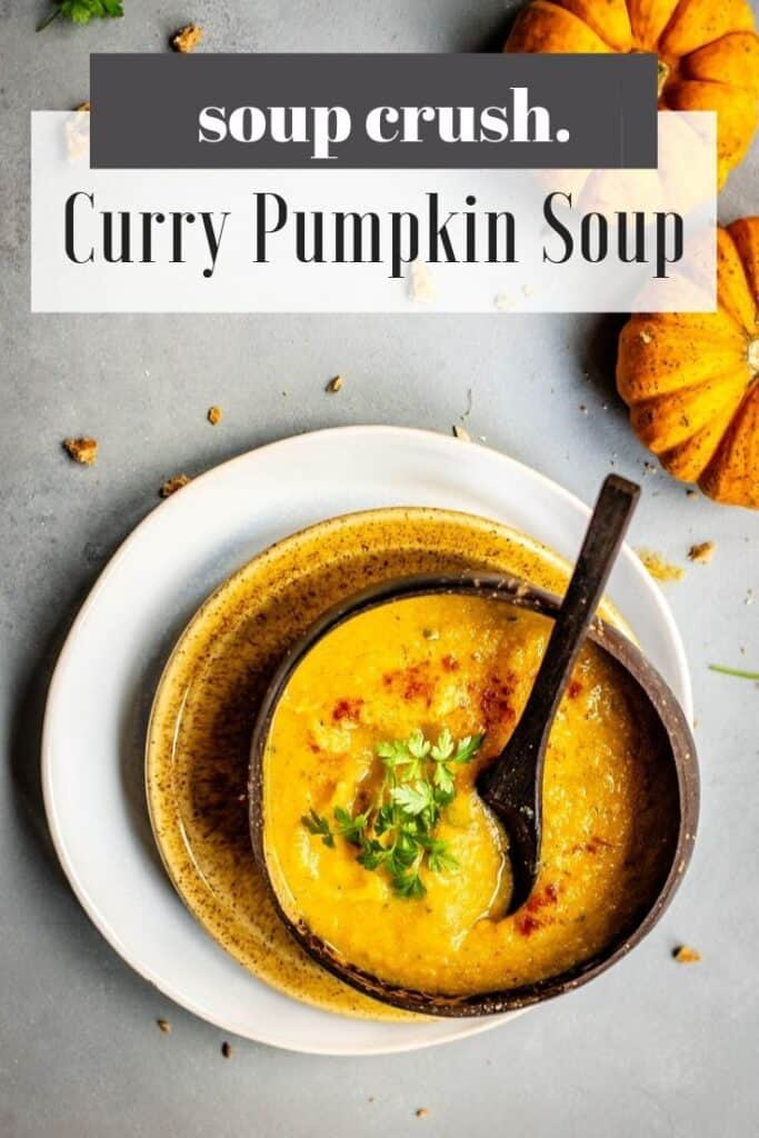 curry pumpkin soup that's easy to make, paleo and whole30 compliant. You'll love it!