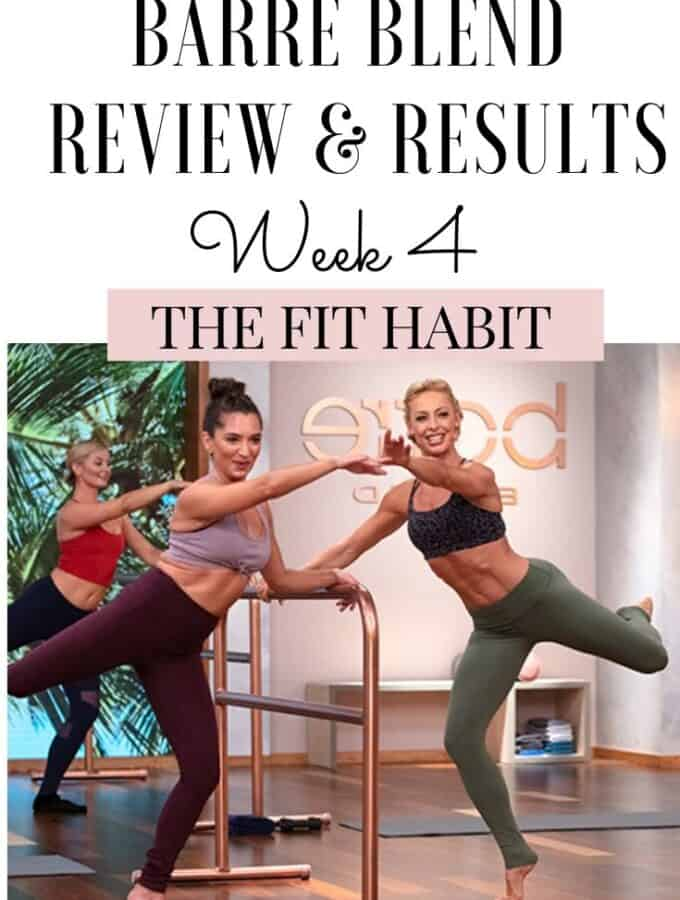 Barre Blend Review after finishing week 4 | 5Lb weight loss and a stronger, leaner frame.