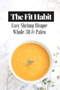 Shrimp Bisque Soup Recipe | Easy, healthy and low carb. Ready in less than 30 mins and it's really good! A full meal in a bowl.