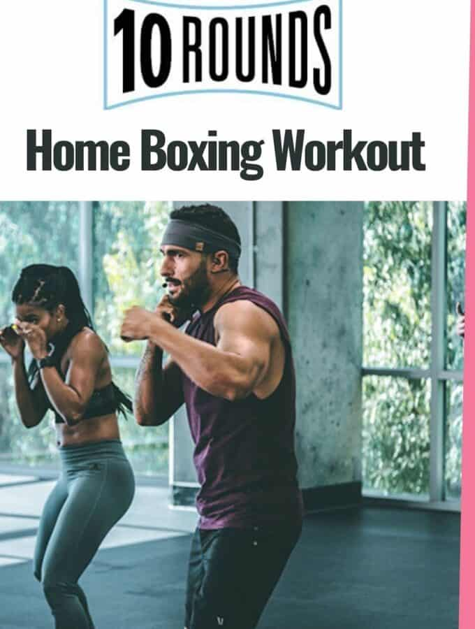 10 rounds workout program man and woman kickboxing