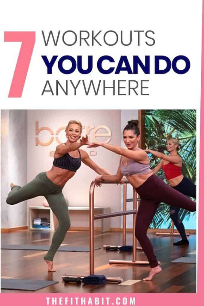 7 Workouts you can do at home. All workouts are full videos covering strength, cardio and flexibility, Choose from a barre class, weight lifting sessions or a quick HIIT class. All are free and no registration is needed.
