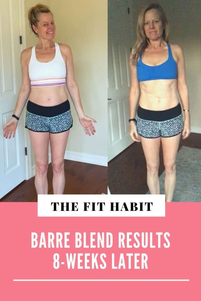 Barre Blend Before & After   My results after doing an at-home barre program for 8 weeks, 5 days per week.
