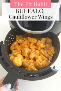 buffalo cauliflower wings in an airfryer